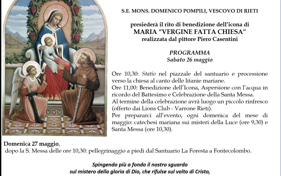 """Benedizione dell'icona di Maria """"Vergine fatta Chiesa"""" di Piero Casentini"""