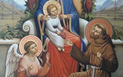 Benedizione delll'immagine della Madonna di Piero Casentini da mons. Pompili