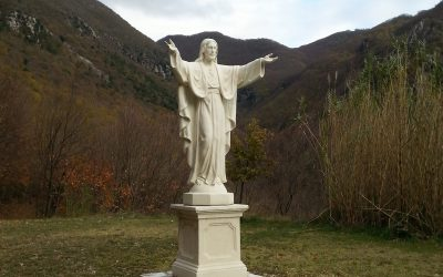 Nuova statua del Sacro Cuore a Poggio Bustone