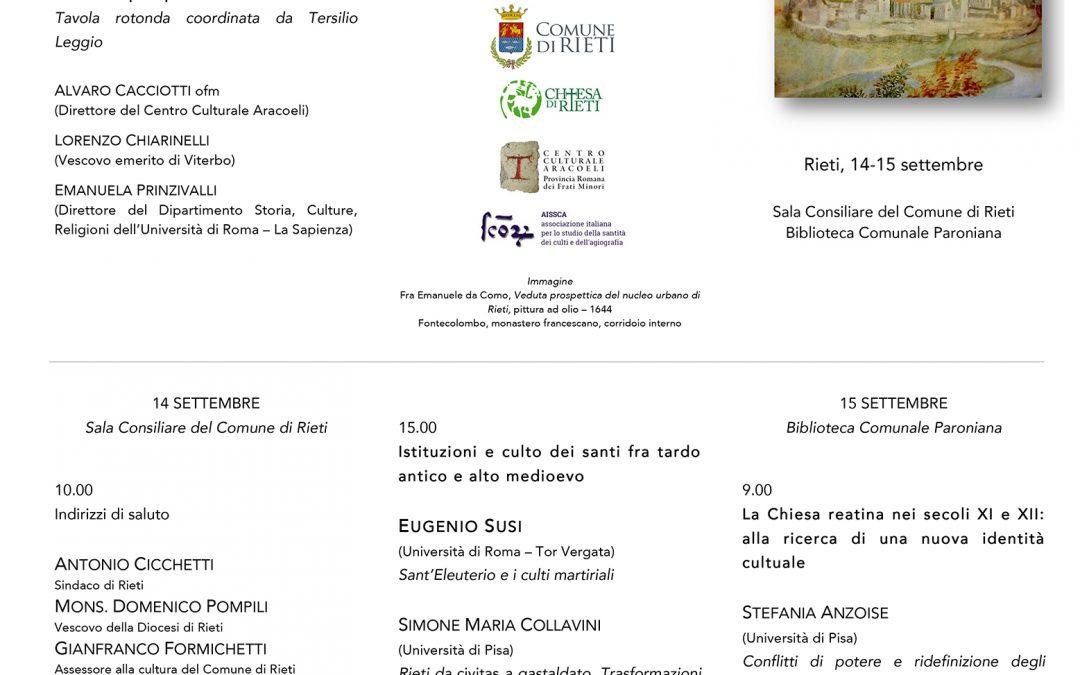Rieti e la Sabina – La costruzione del paesaggio storico – religioso