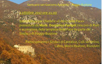 """Santuario San Giacomo Apostolo – Poggio Bustone, """"il dono della Pace"""""""