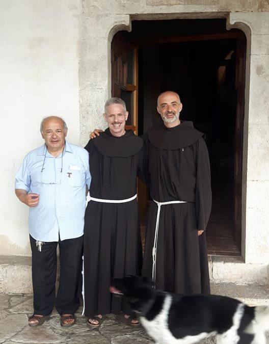 Fr. Michael Anthony Perry, ministro generale dell'Ordine dei frati minori, a Poggio Bustone